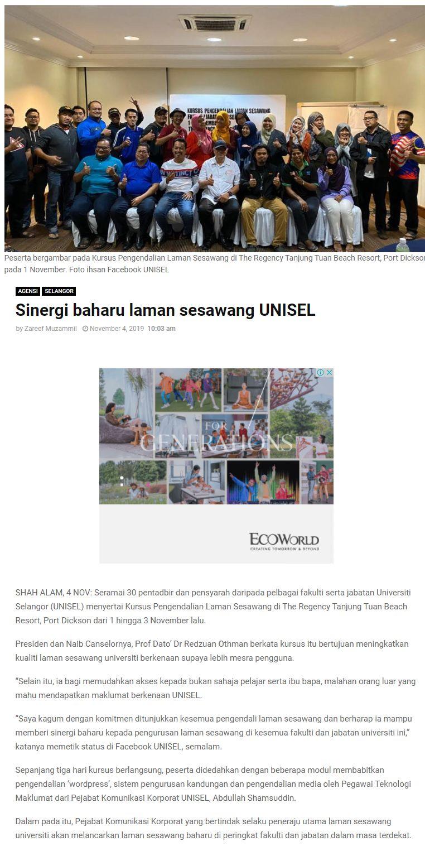 Selangor Kini 1 November 2019