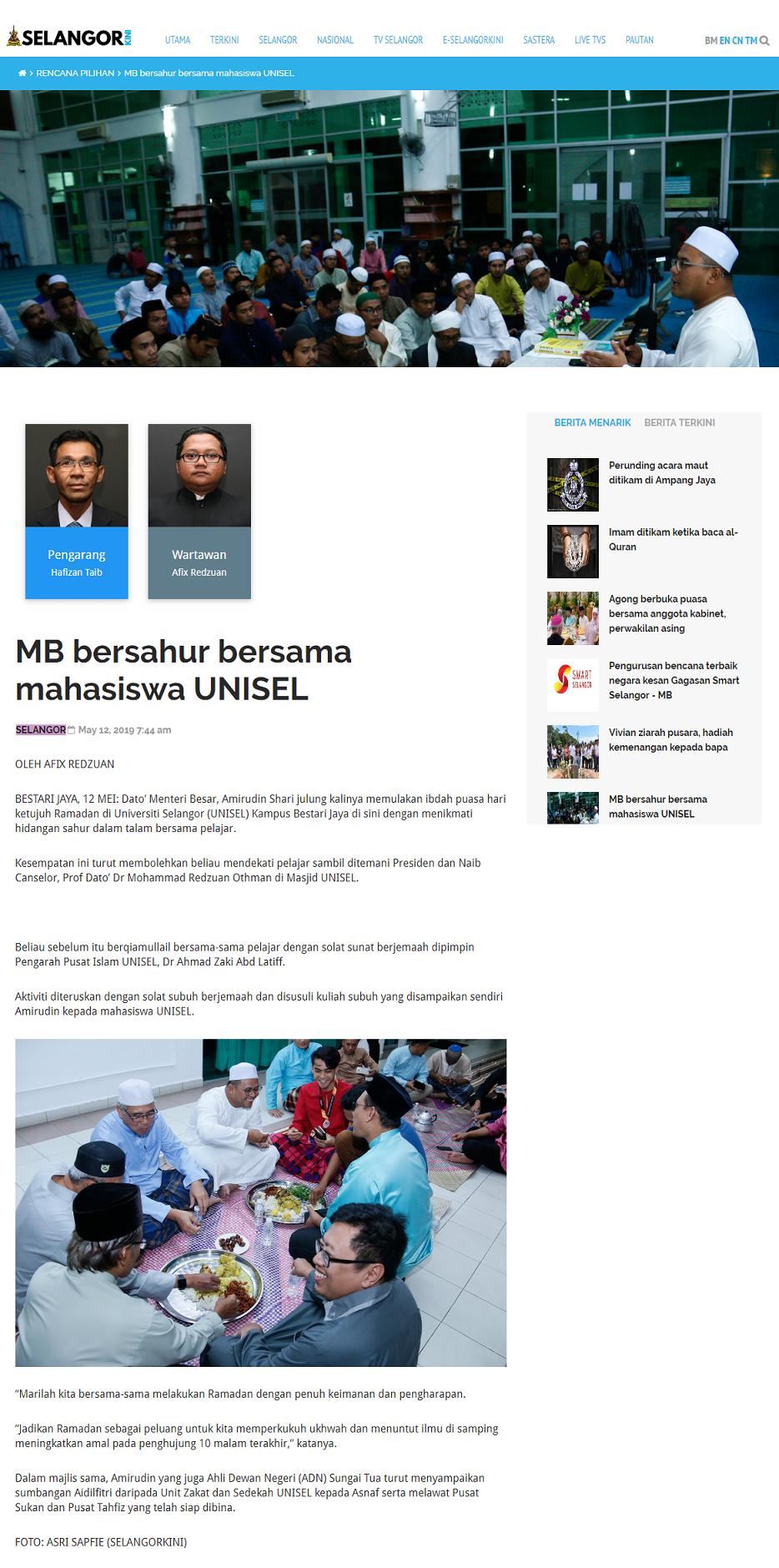 Selangorkini (Online) 12 Mei 2019