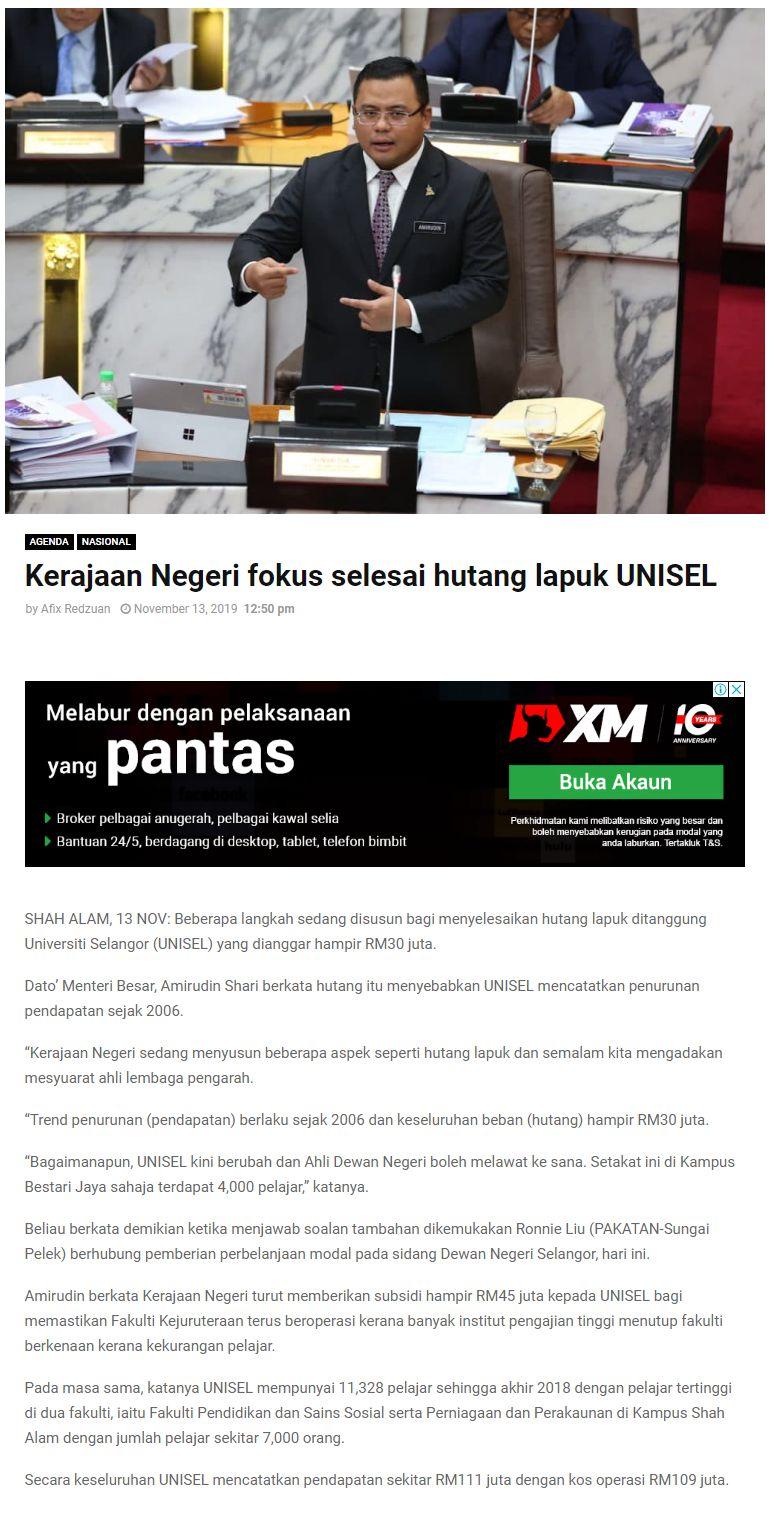 Selangor Kini 13 November 2019