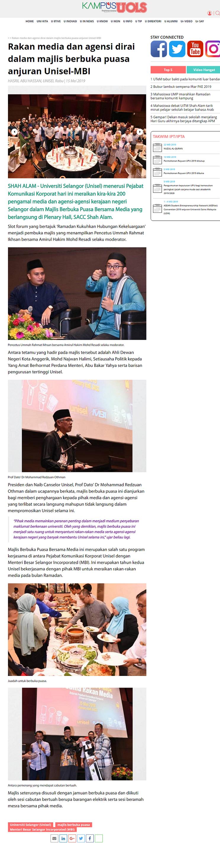Sinar Harian_Kampusuols (Online) 15 Mei 2019