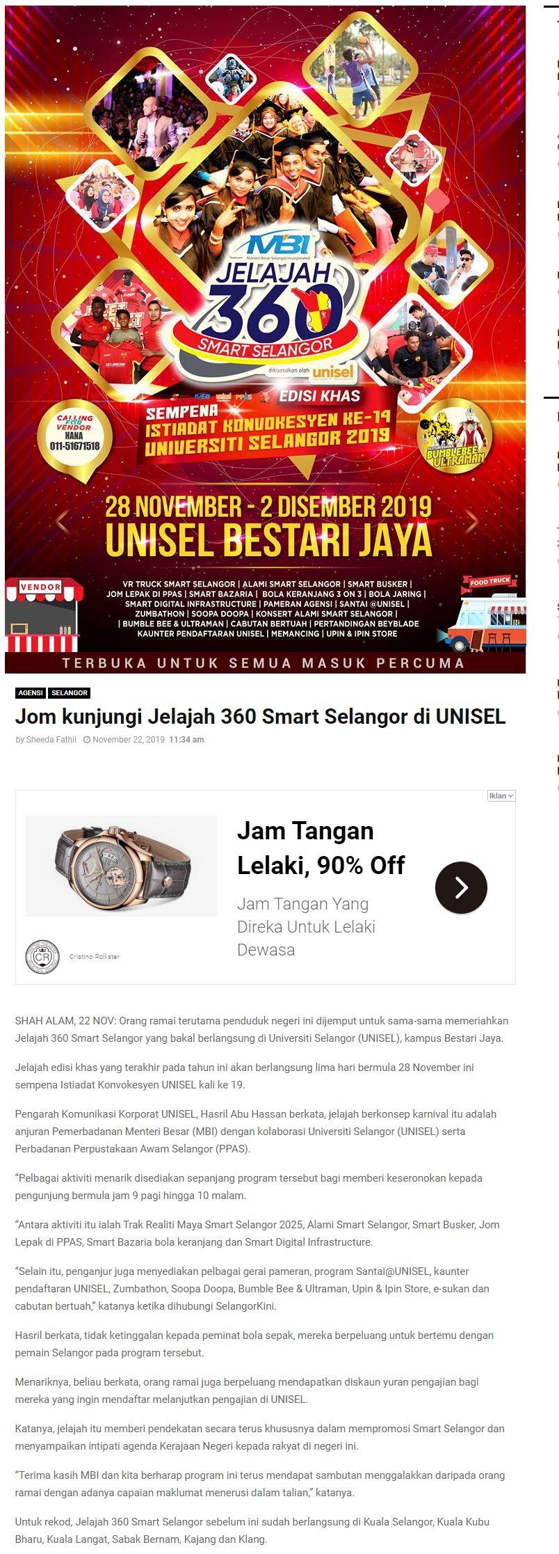Selangor Kini 22 November 2019