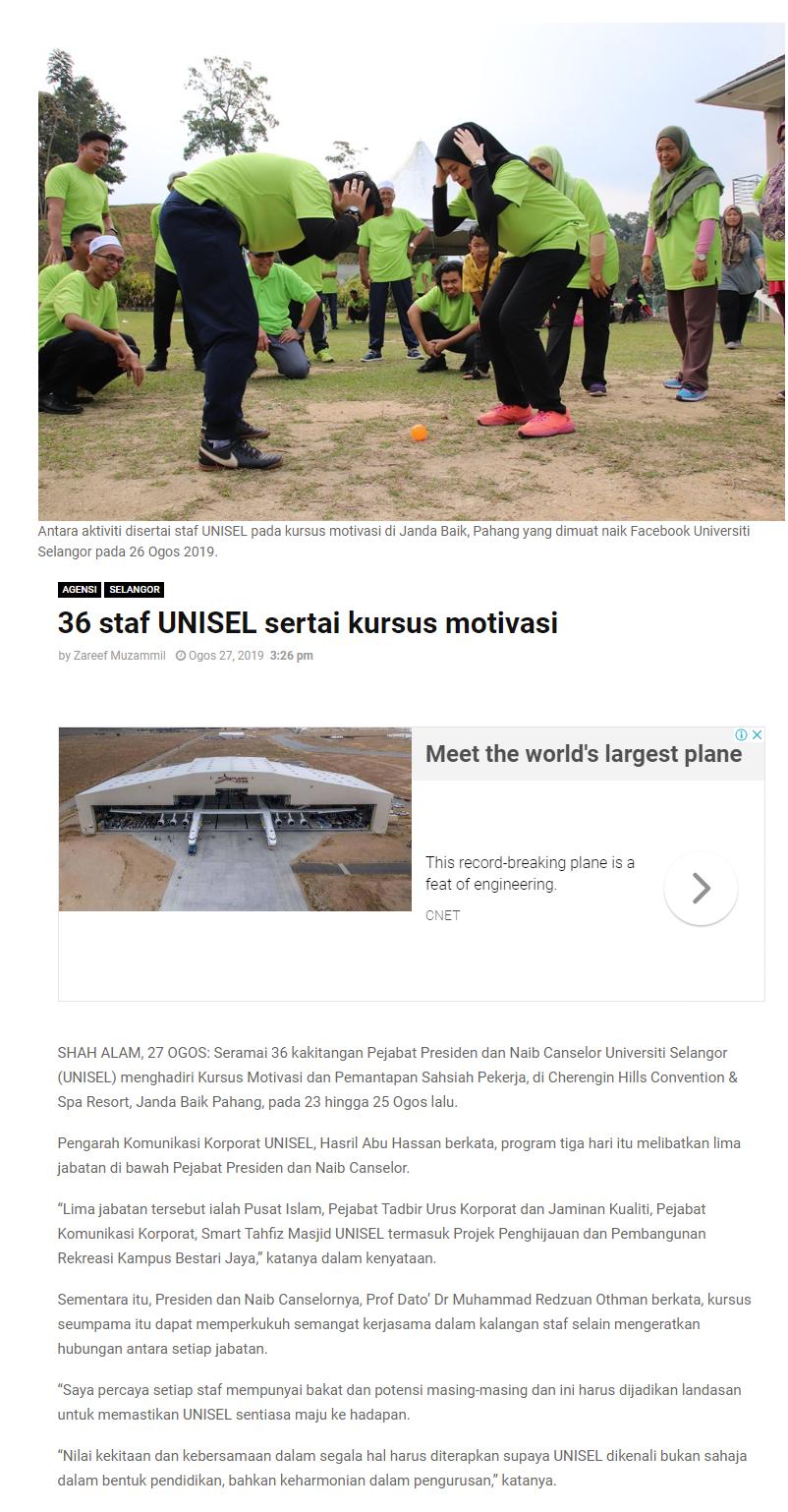 Selangor Kini (Online) 27 Ogos 2019