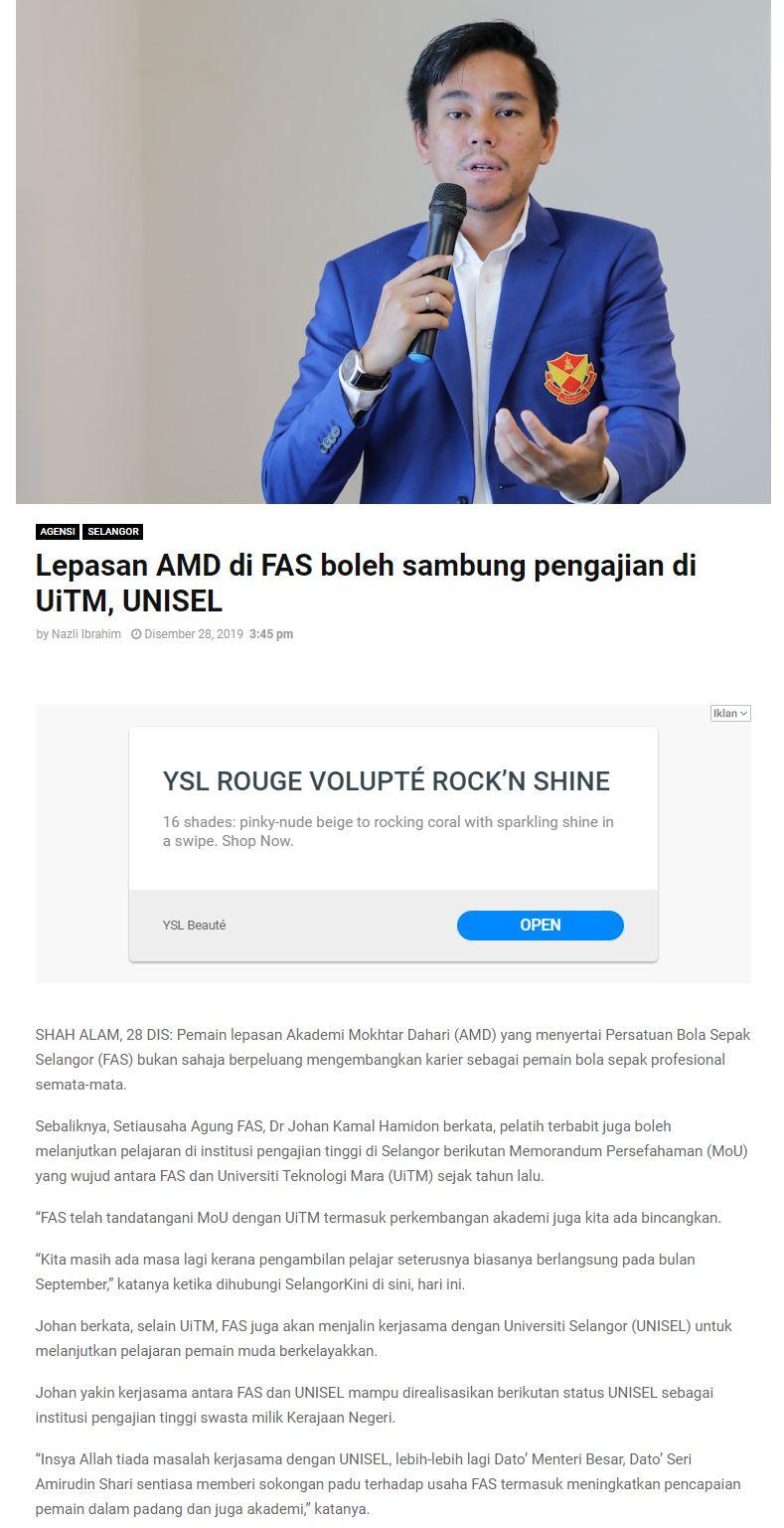 Selangorkini 28 Disember 2019