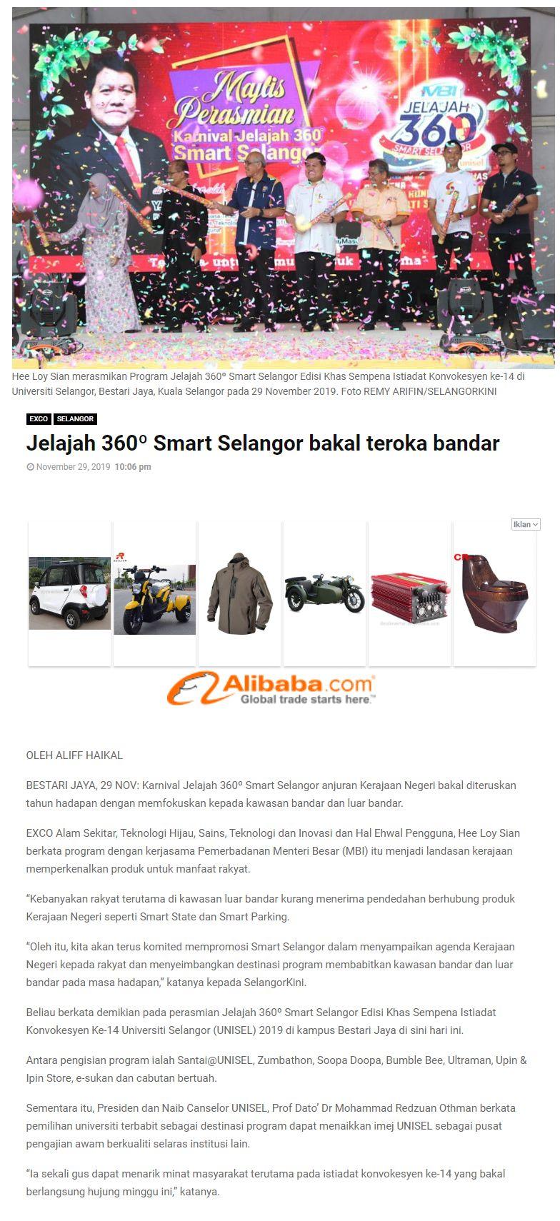 Selangor Kini 29 November-2019