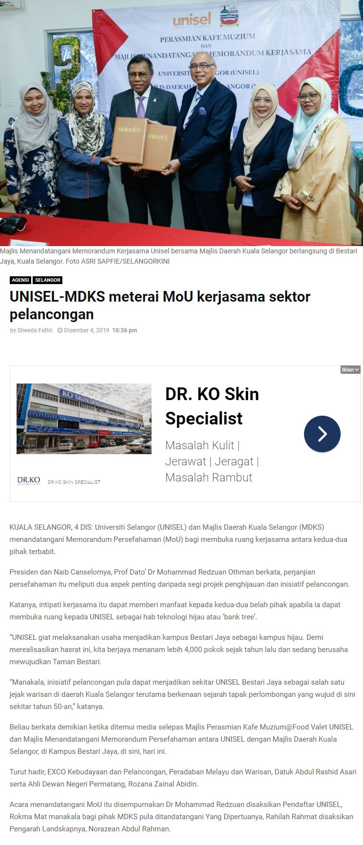 Selangor Kini 4 Disember 2019