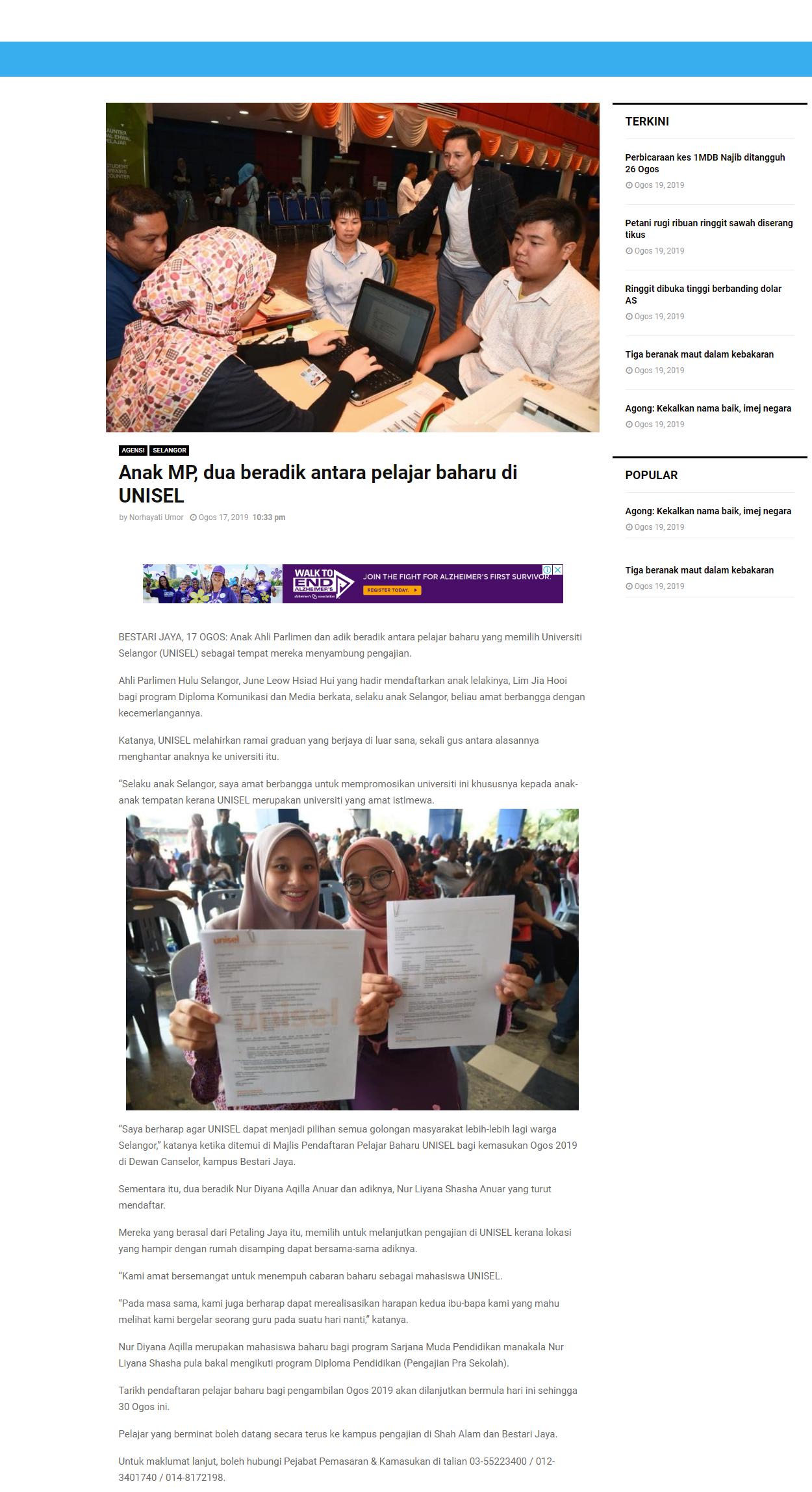 Selangor Kini (Online) 17 Ogos 2019