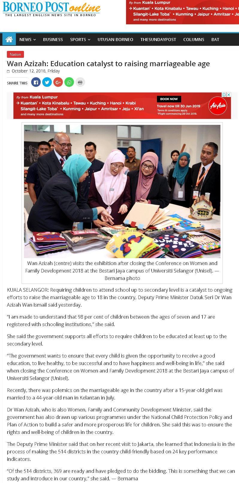 Borneo Post Online - 12 Oktober 2018