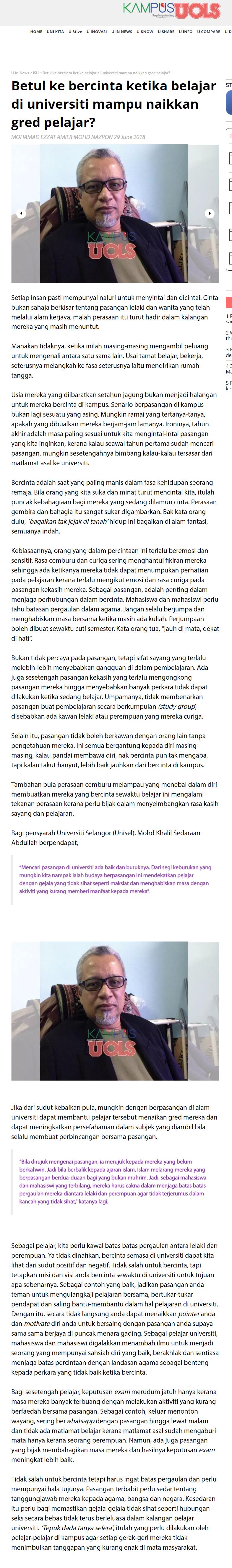 Kampusuols Sinar Harian Online - 29 Jun 2018