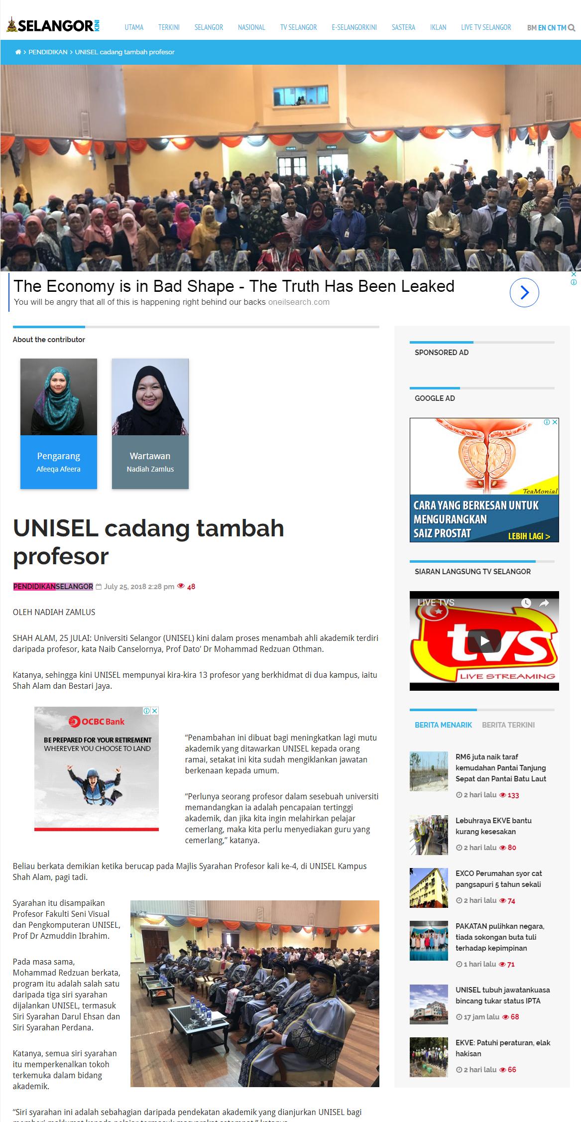 Selangorkini Online - 25 Julai 2018