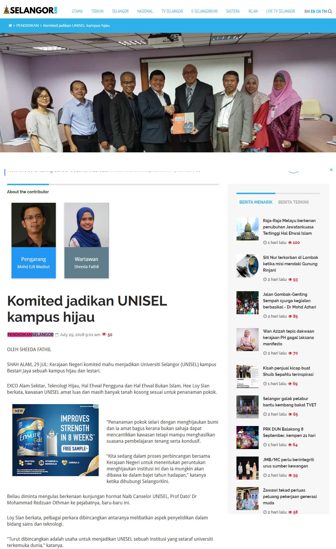 Selangorkini Online - 29 Julai 2018