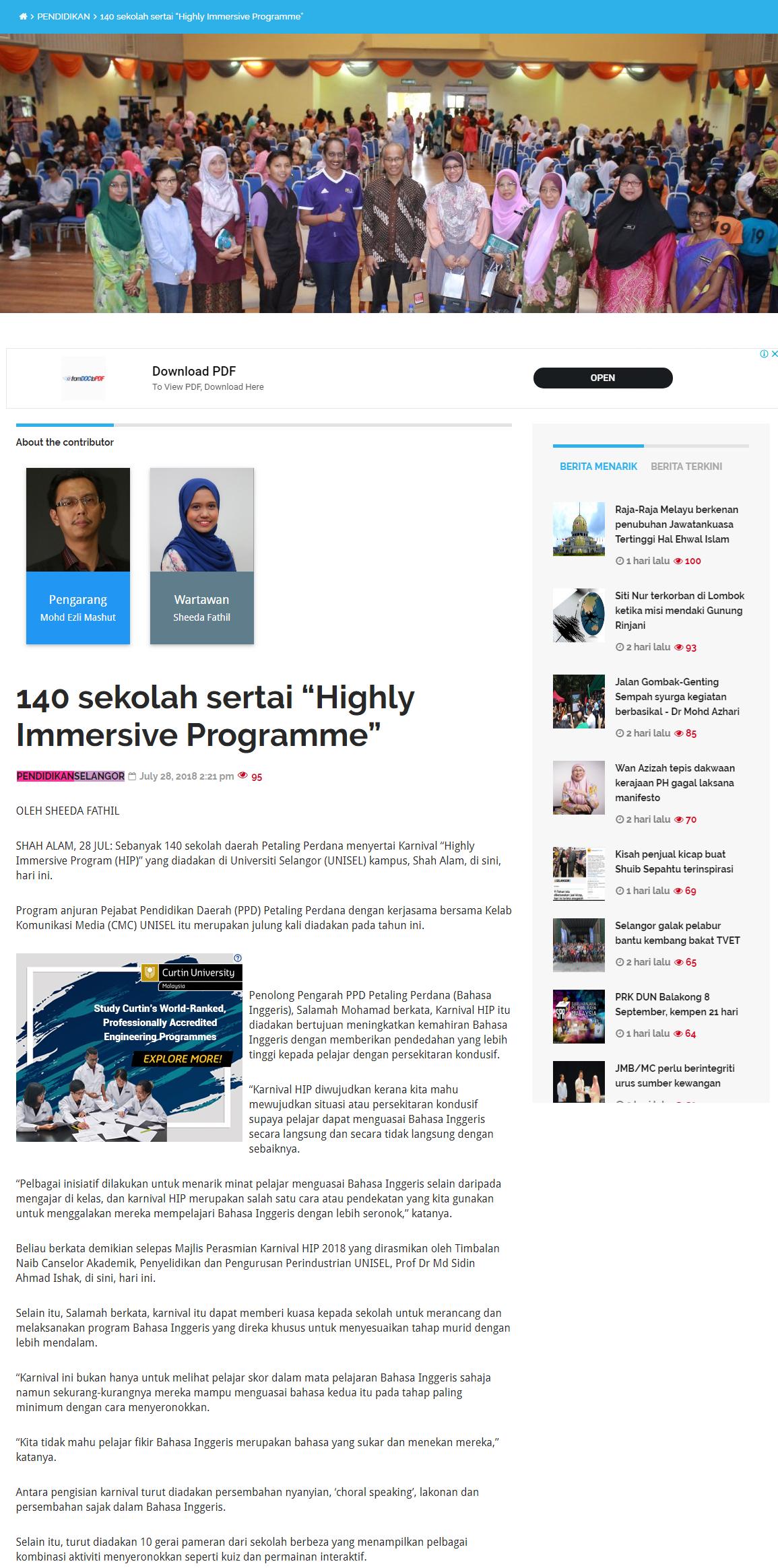 Selangorkini Online - 28 Julai 2018