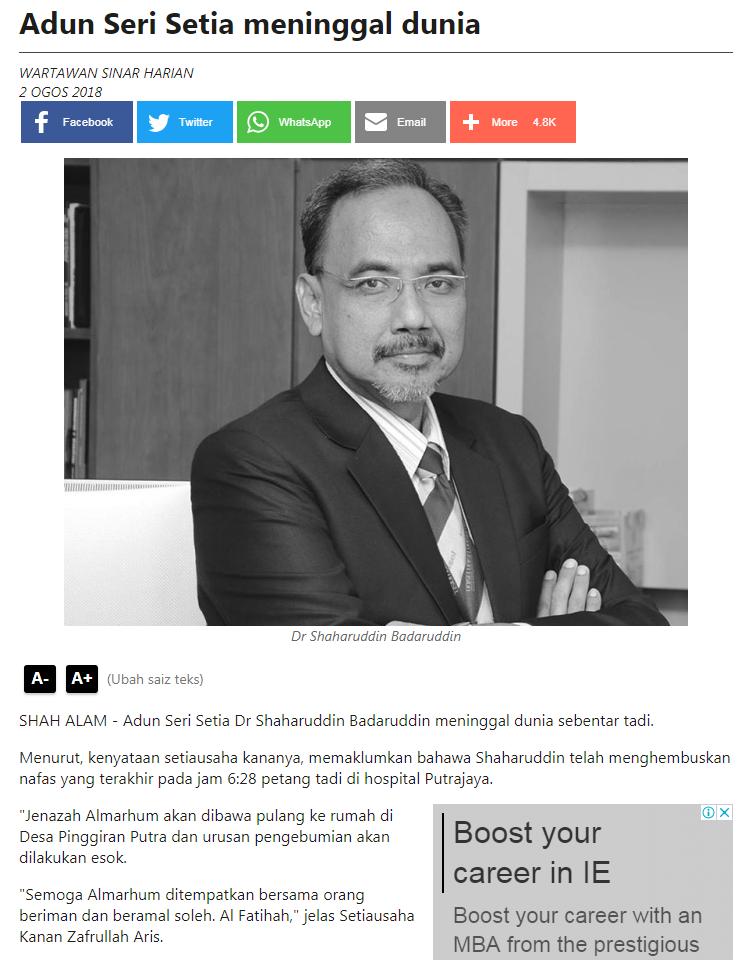 Sinar Harian Online - 2 Ogos 2018