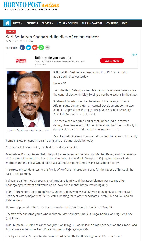 Borneo Post Online - 3 Ogos 2018