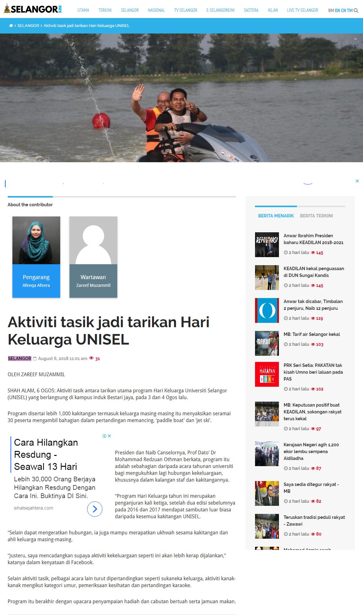 Selangorkini Online - 6 Ogos 2018 (Isnin)