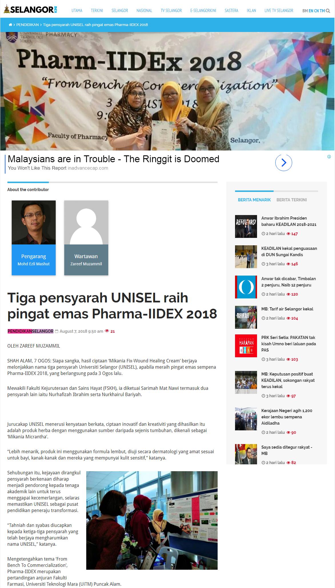 Selangorkini Online - 7 Ogos 2018 (Selasa)