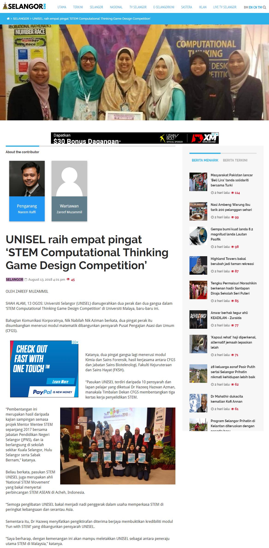 Selangorkini Online - 13 Ogos 2018 (Isnin)