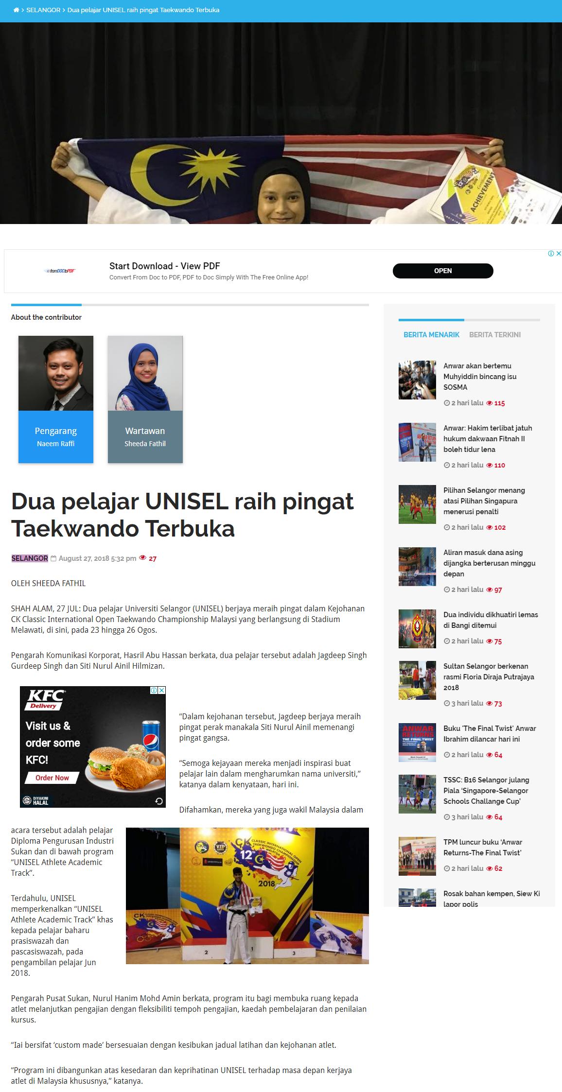 Selangorkini Online - 28 Ogos 2018 (Selasa)