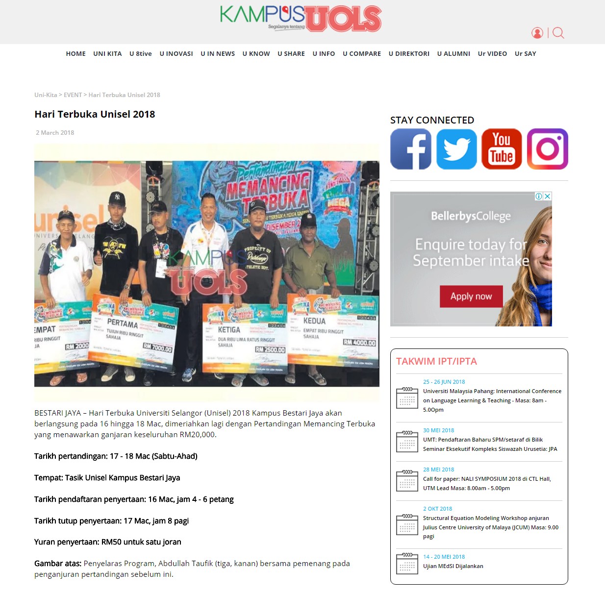 FireShot Capture 70 - Hari Terbuka Unisel 2018 - Kampus_ - http___kampusuols.com_article_302_