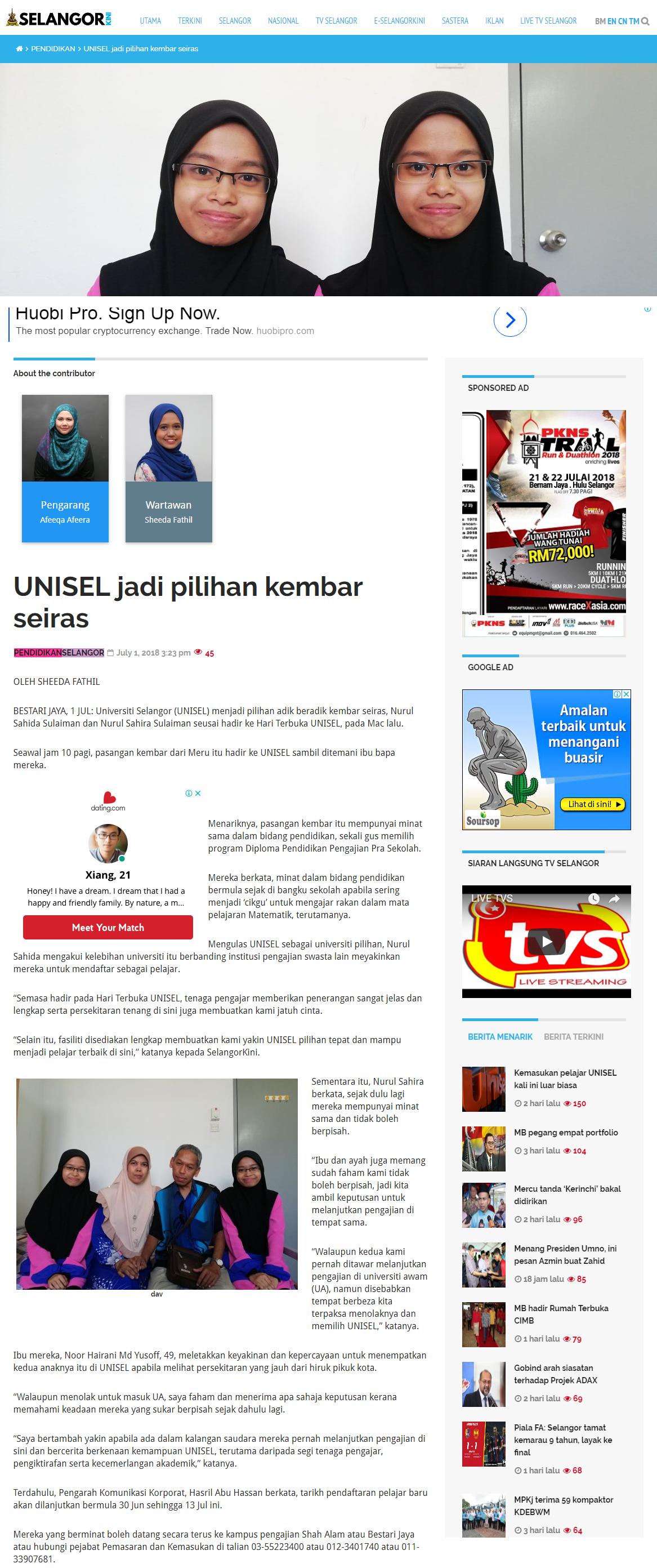 Selangorkini Online - 1 Julai 2018