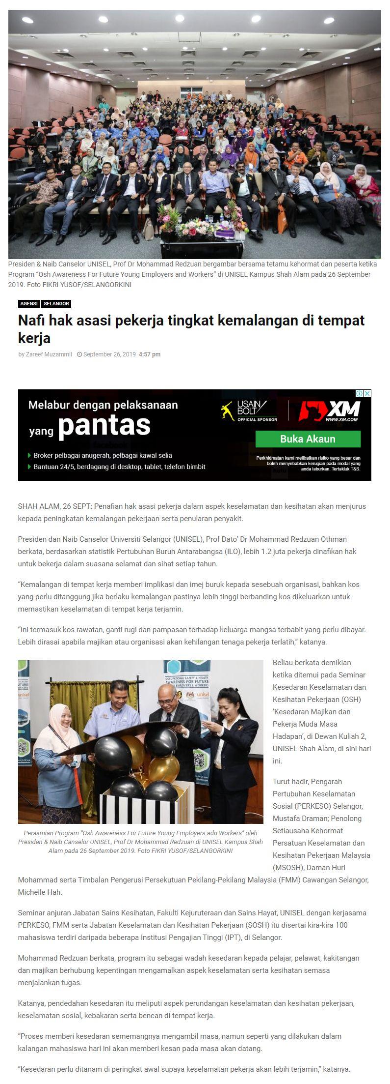 Selangor Kini (Online) 26 September 2019
