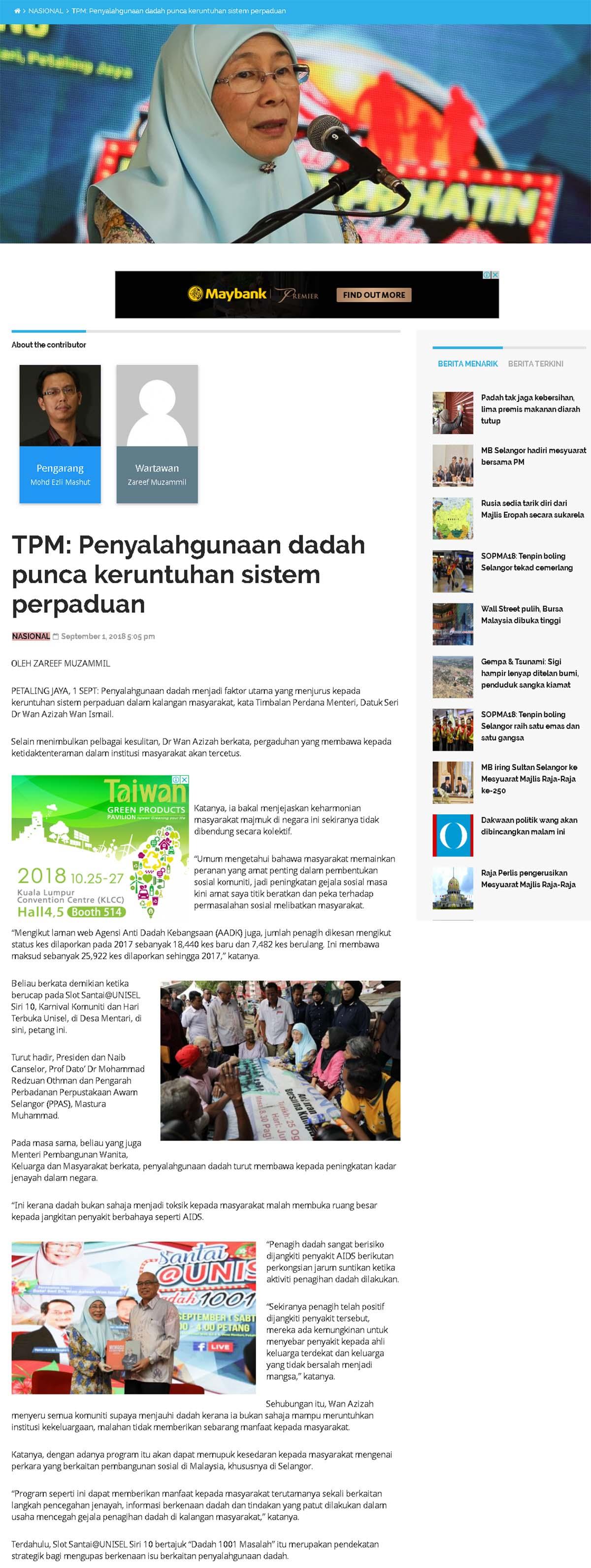 Selangor Kini Online - 1 September 2018