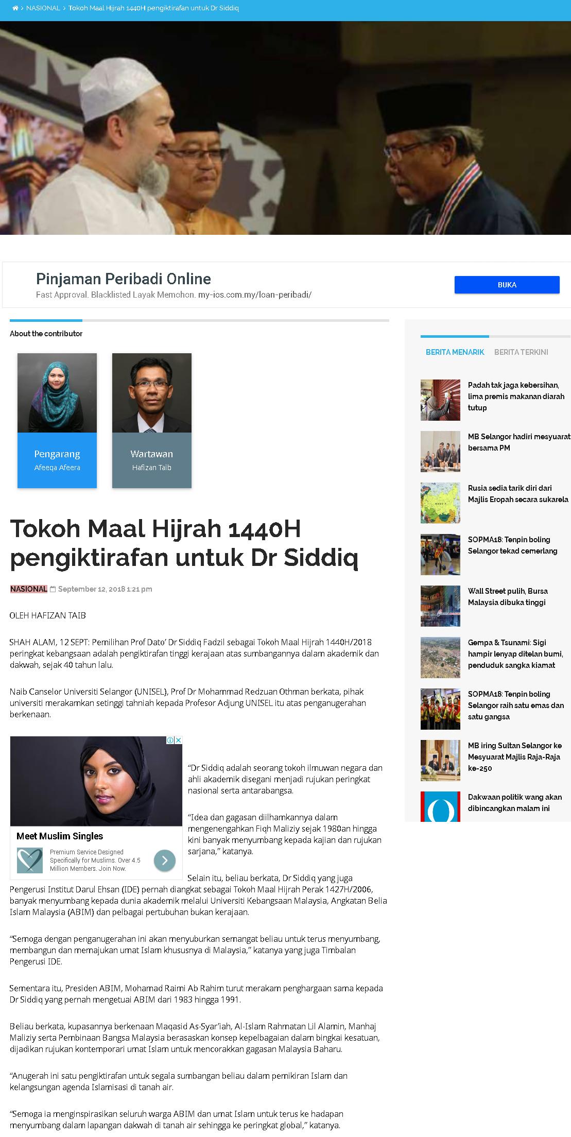 Selangor Kini Online - 12 September 2018