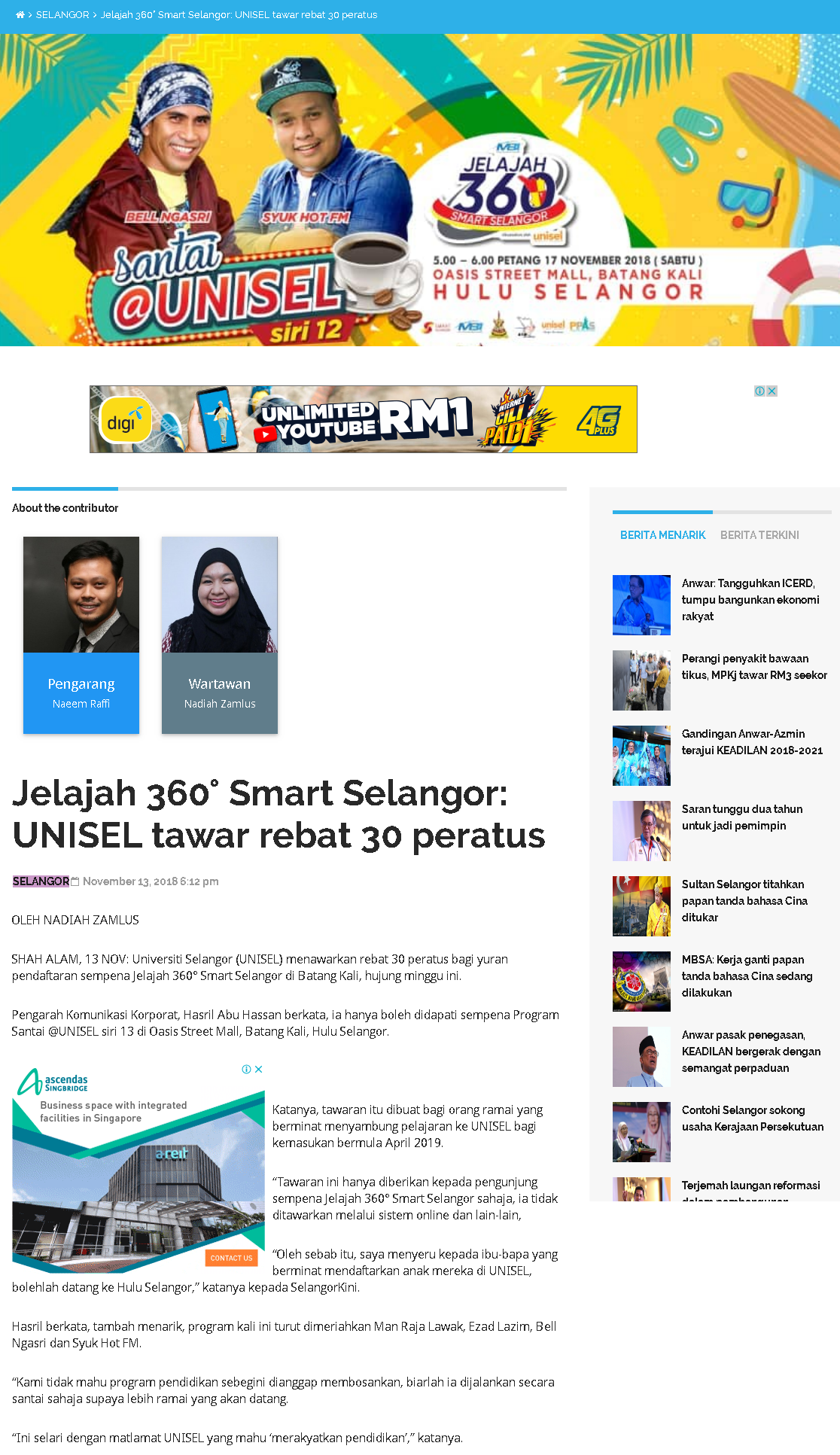 Selangorkini Online- 13 November 2018