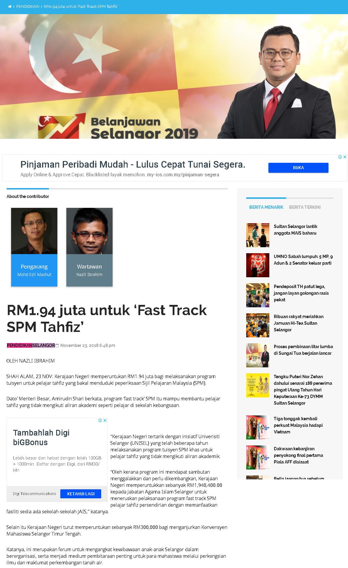 Selangorkini - 23 November 2018