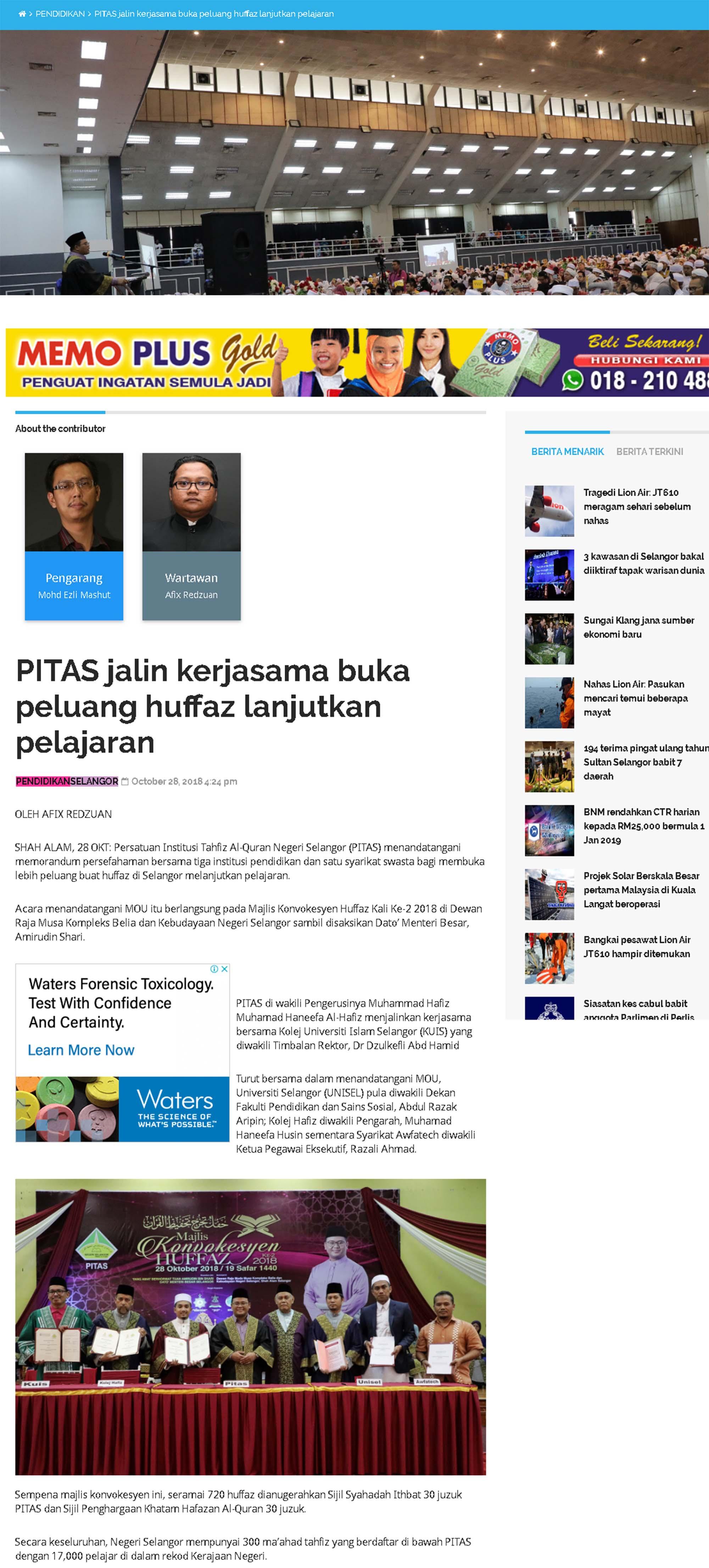 Selangorkini Online 28 Oktober 2018