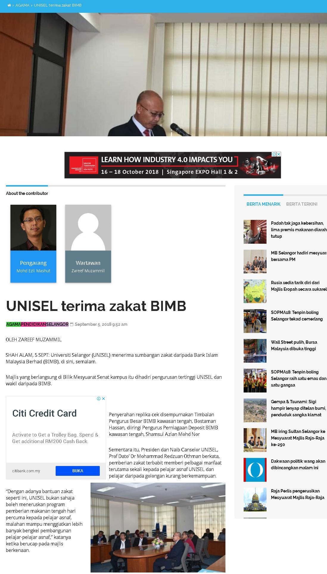 Selangor Kini Online - 5 September 2018