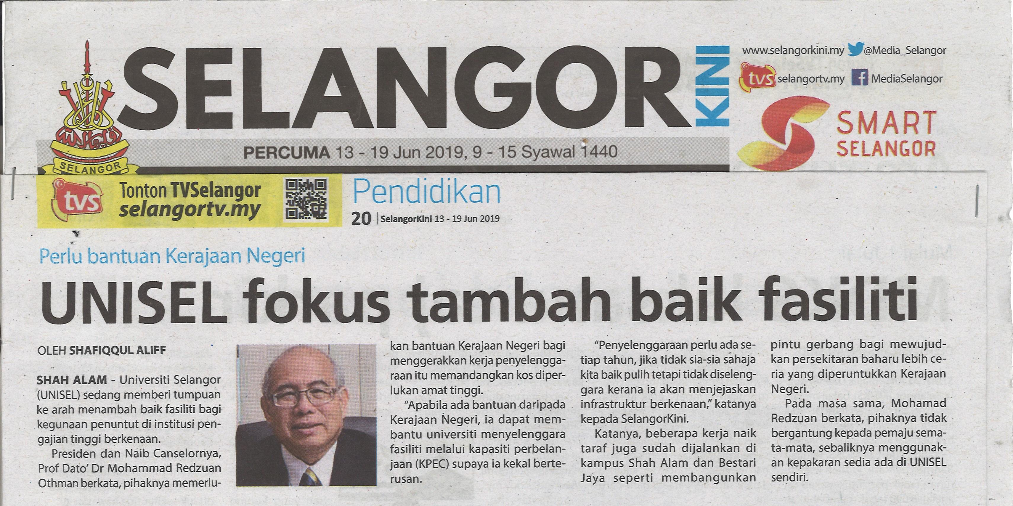 Selangor Kini Edisi 13-19 Jun 2019