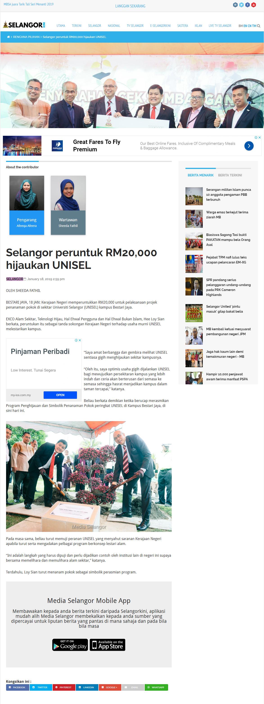 Selangor Kini - 18 Jan 2019