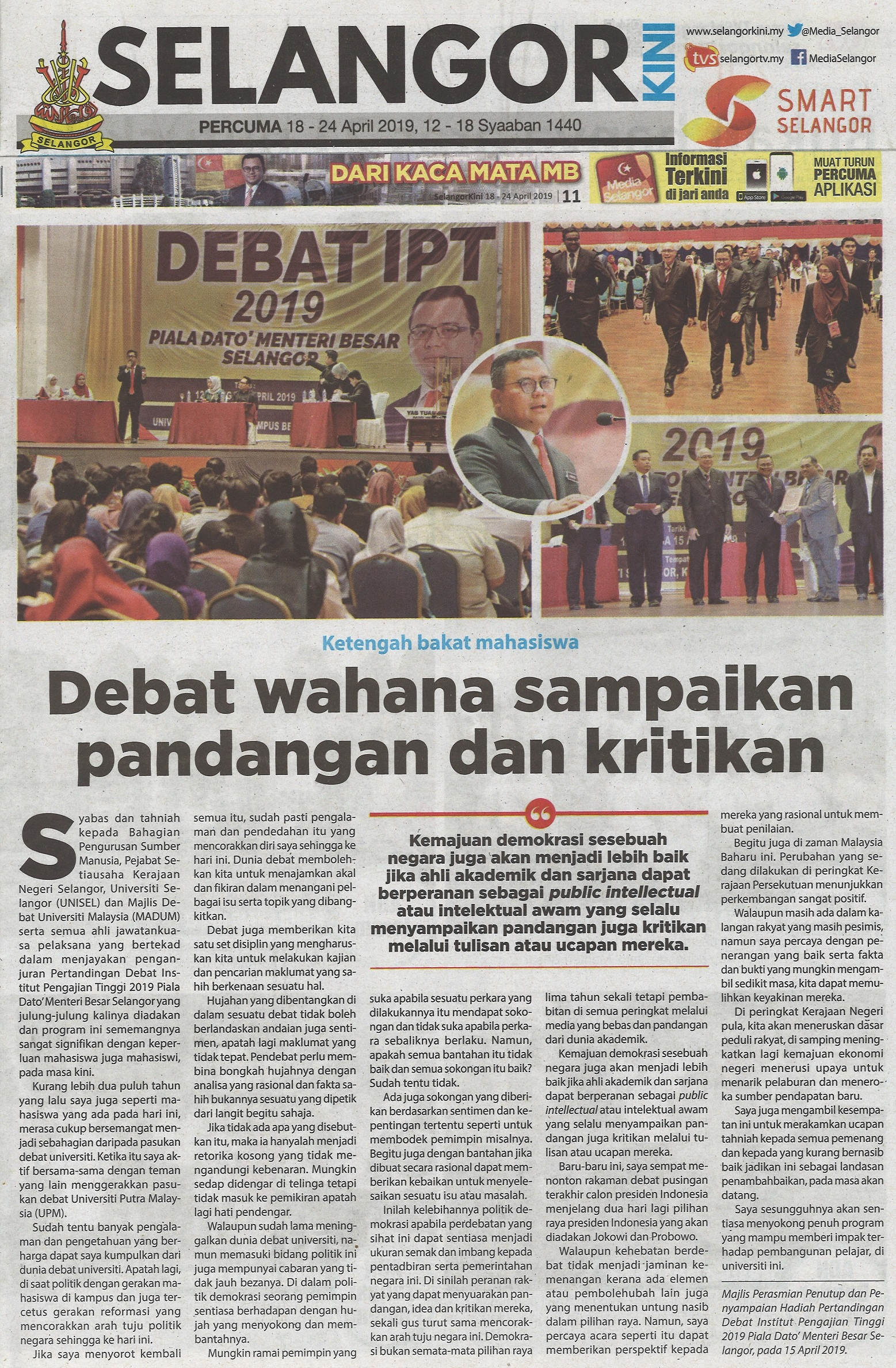 Selangor Kini Edisi 18-24 April 2019