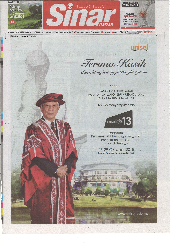 Sinar Harian - 27 Oktober 2018