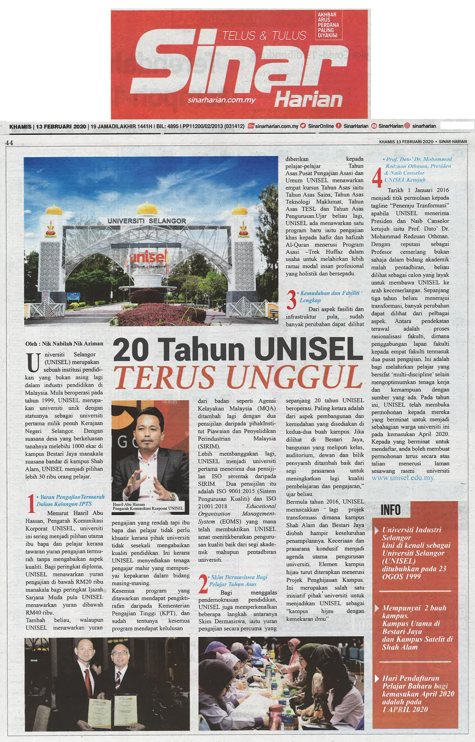 Sinar harian 13 Feb 2020