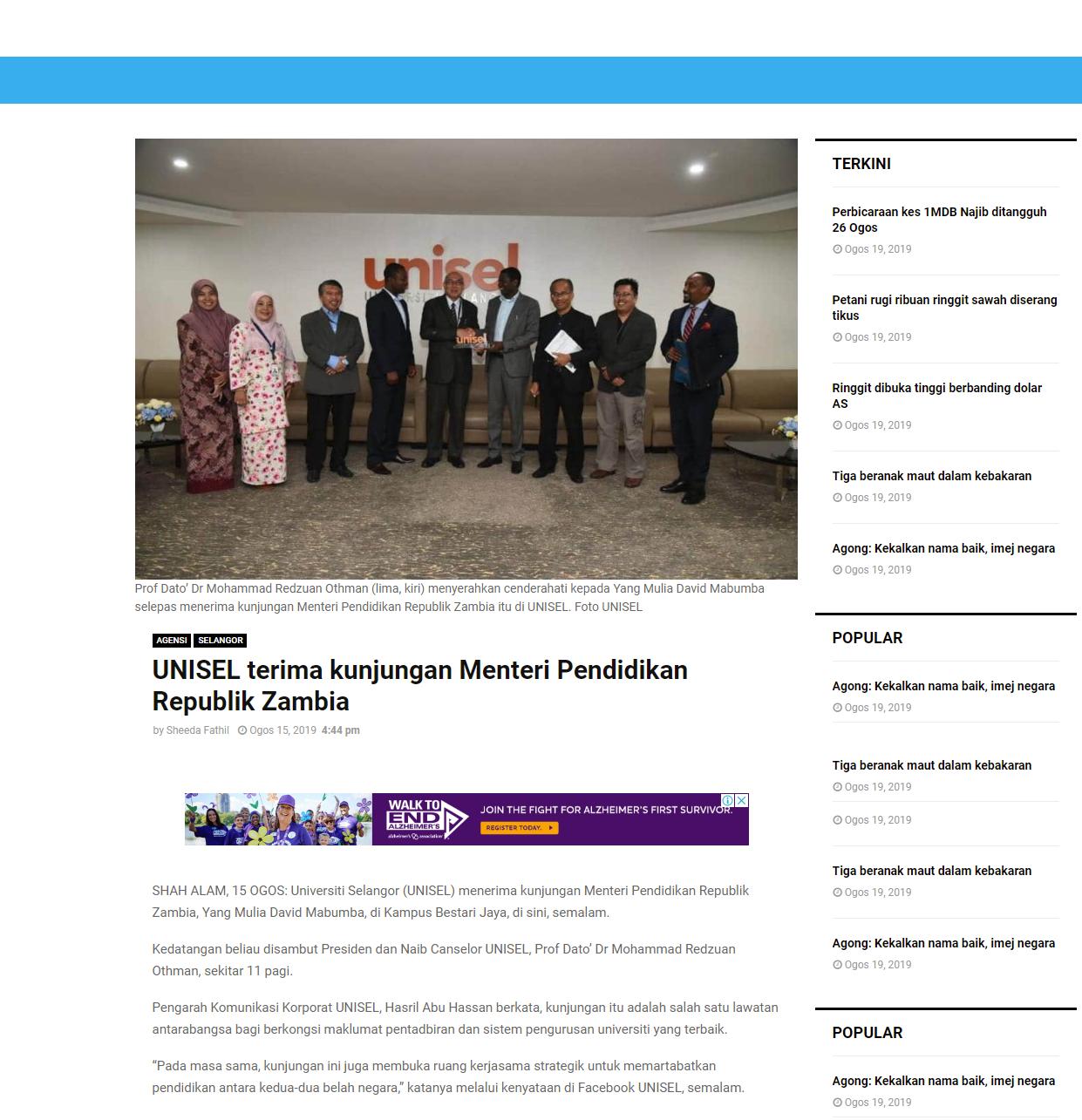 Selangor Kini (Online) 15 Ogos 2019