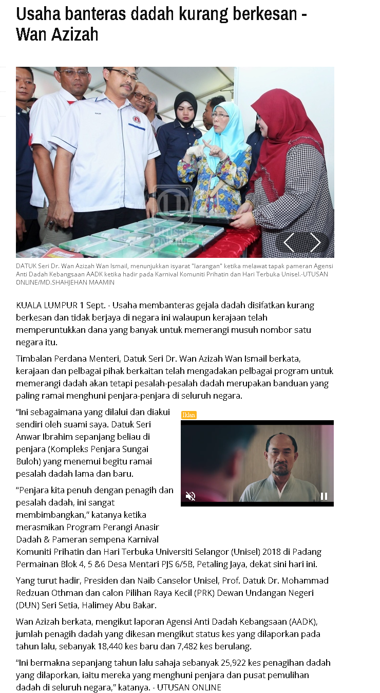 Utusan Online - 1 September 2018